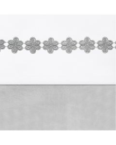 Laken Flower Strip Grey